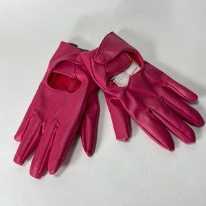 Target Pink heart cut out kids gloves Girls 4-7